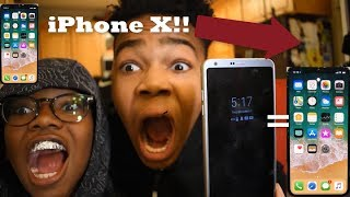 Turn Your Android Into An iPHONE X!!