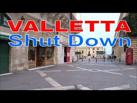 Valletta, Malta on shutdown .....Developing story.
