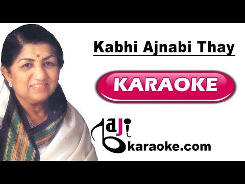 Kabhi Ajnabi Thay Zameen Aasman - Video Karaoke - Lata & Suresh Wadkar - by Baji Karaoke