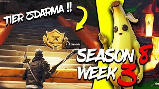 WHERE is the SECOND FREE TIER FOR SEASON 8 (Week 3)-Fortnite Battle Royale CZ/SK
