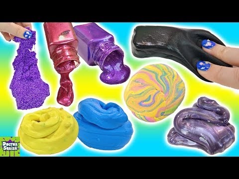 Amazon SLIME Review! Black Butter Slime Cotton Candy Slime Galaxy Slime Doctor Squish