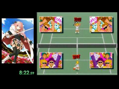 Super Tennis Any% speedrun in 02:08:45