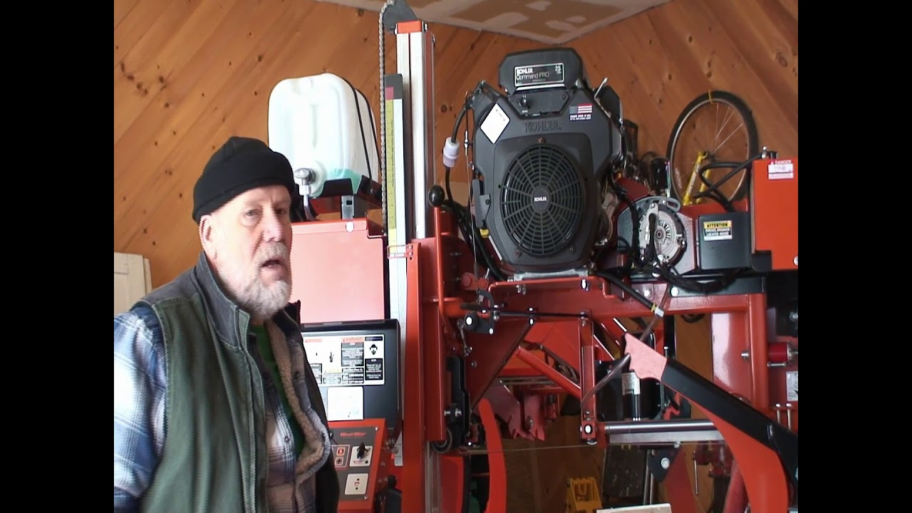 WoodMizer LT35 Starts Hard in Maine - YouTube