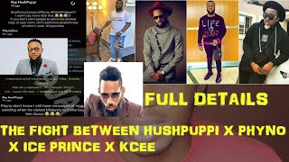 Full Details Fight Between Hush Puppi X Phyno X Ice Prince
