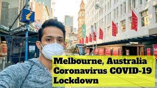 Melbourne City During Coronavirus Lockdown COVID-19 Australia -Bourke St, Melbourne Central