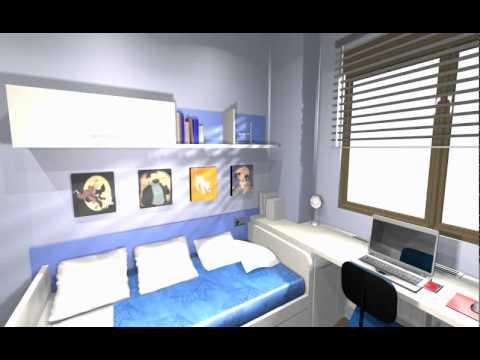 Habitaci n juvenil con toques de despacho arredo youtube for Como decorar mi despacho