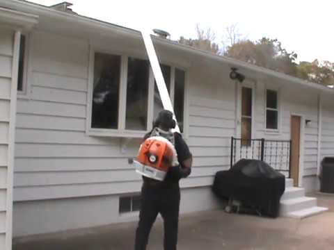 Gutter Cleaning Made Easy Using A Stihl Br600 Youtube