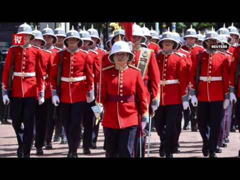 First female infantry officer to captain UK Queen's Guard