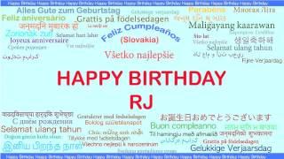 RJ   Languages Idiomas - Happy Birthday