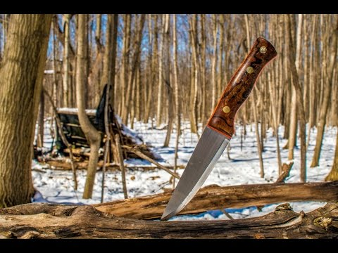 Bushcraft Knife Skills, Unknown Visitor at Camp, 250k Sub Giveaway