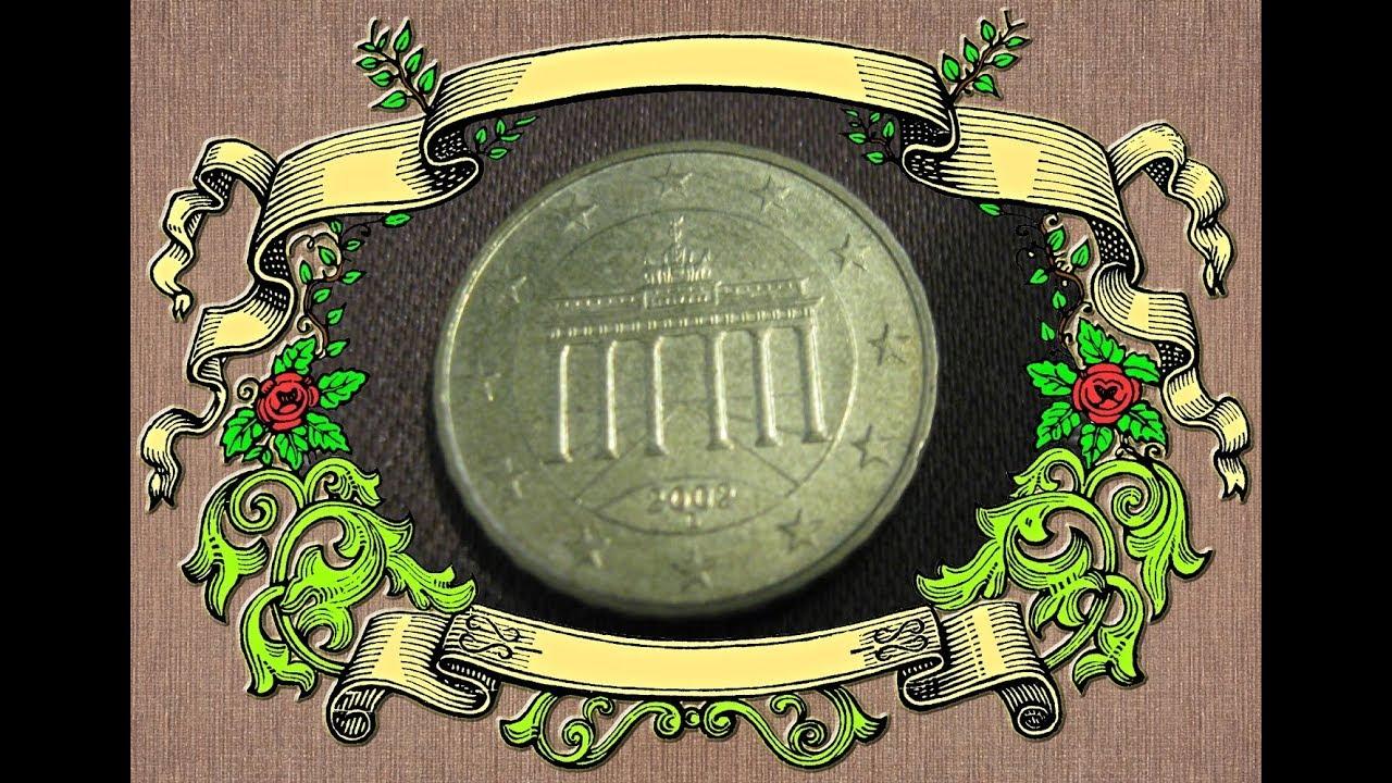 Coin German 10 Euro Cent 2002 The Brandenburg Gate As A Symbol Of