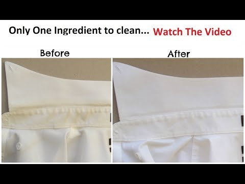 How to Remove Collar Stains & Clean Dirty Cuffs in 5 minutes
