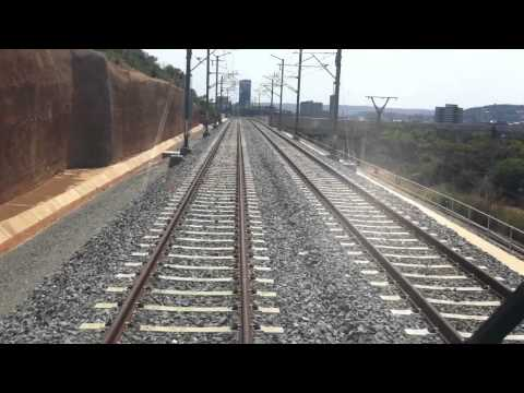 Gautrain - Snake valley into Pretoria Station