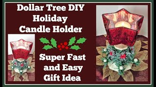 Dollar Tree DIY 🎄 Holiday Candle Holder / Great Gift Idea