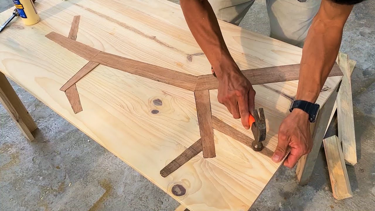 Amazing Creative Woodworking Ideas From Discarded Wood Block // Groundbreaking Design Wooden Table