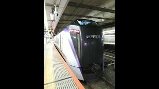 【車窓】E353系 特急「あずさ」1号 新宿駅発車 2021.3.15