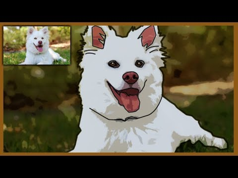 How To CARTOON Your DOG In Photoshop | PET Portrait Cartoon Effect | Comic Effect | Filter Effect