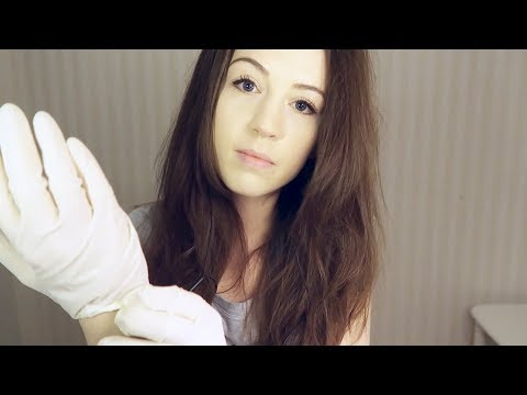 ASMR Latex gloves // Head and ear touching