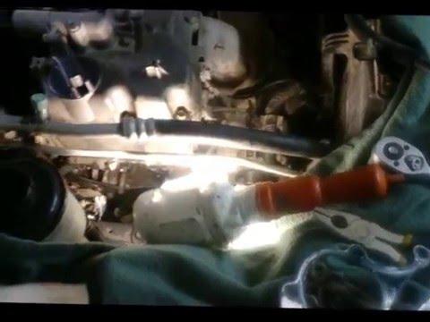 Замена помпы Nissan Almera Classic, без снятия шкива коленвала