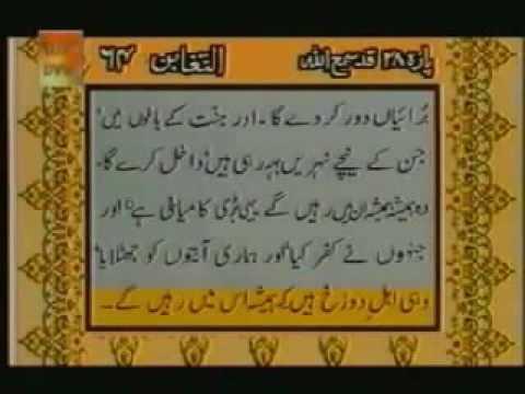 Surah Al Taghabun With urdu Translation Full