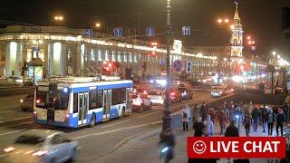 LIVE CAMERA Nevskiy avenue St. Petersburg Russia. Невский пр. Санкт-Петербург и обзорные камеры