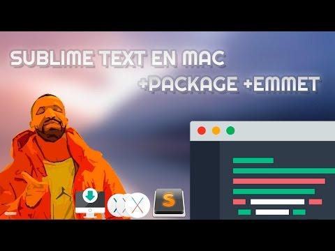 INSTALA SUBLIME TEXT - PACKAGE - EMMET EN MAC OS