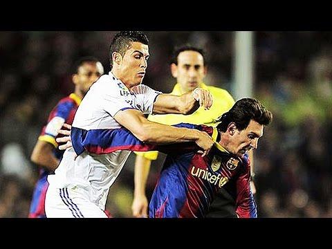 Neymar Ronaldo Messi Horror Fouls Brutal Tackles in Football