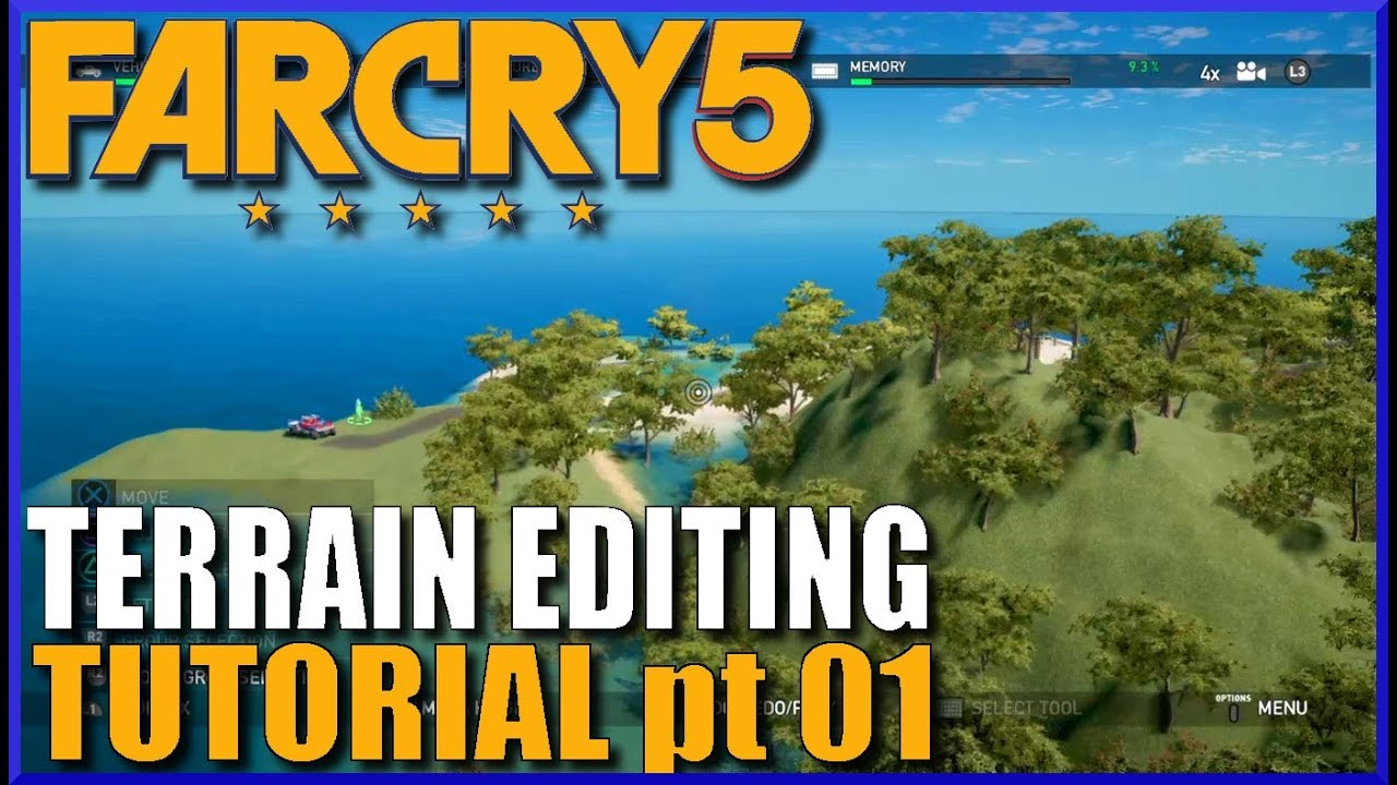 Far Cry 5 Map Editor Tutorial 01 Backdrops And Terrain Basics Youtube