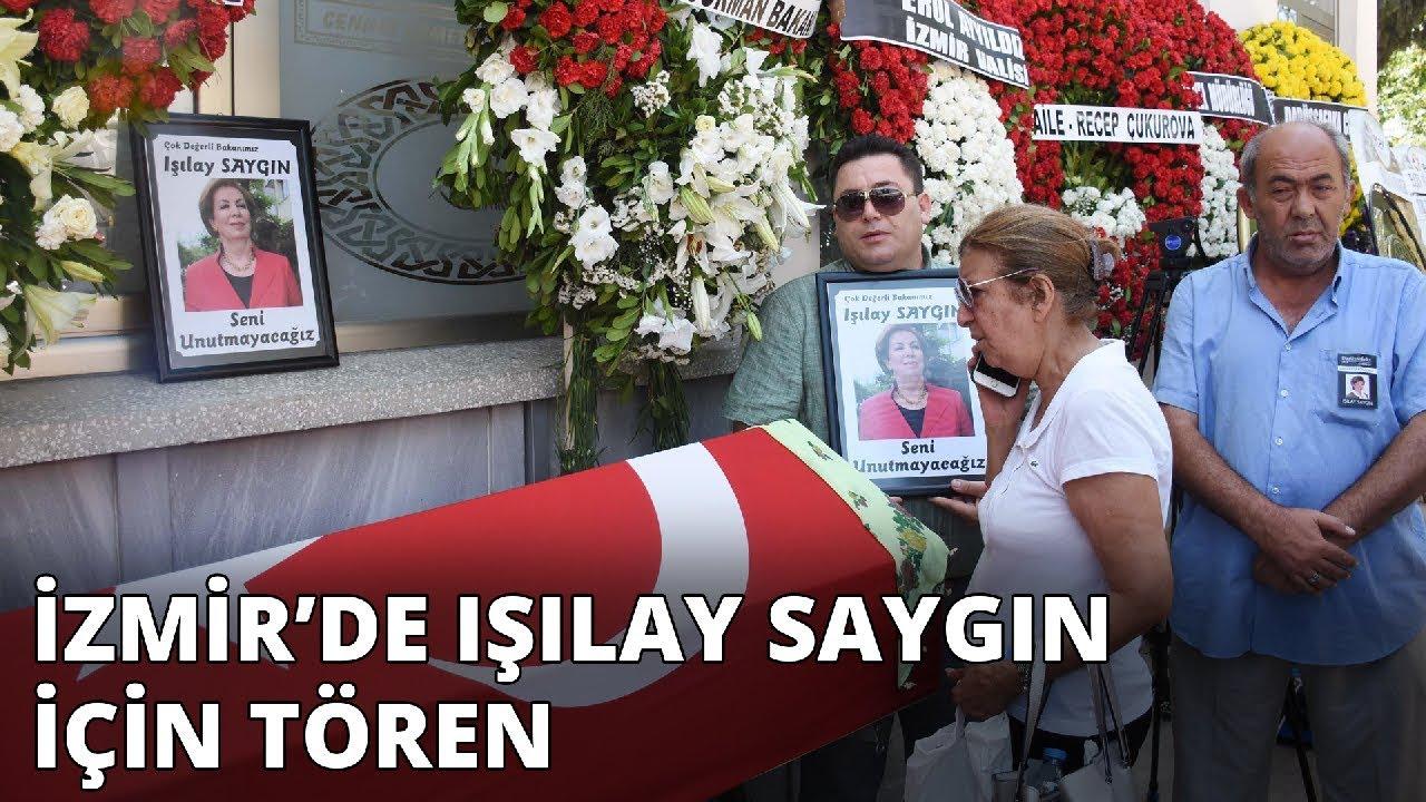 İzmir'de Işılay Saygın için tören