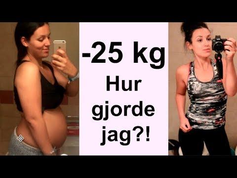 gå ner i vikt efter förlossning