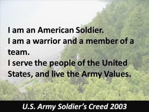 Soldiers Creed - U.S. Army - Hear the Text - 2003