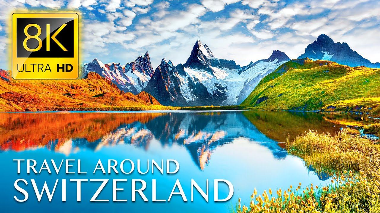 Beautiful Trip to SWITZERLAND in 8K ULTRA HD - Best Places with Relaxing Music 8K TV