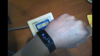 Фитнес смарт браслет SGN108 с измерением артериального давления (тест, сравнение с тонометром)