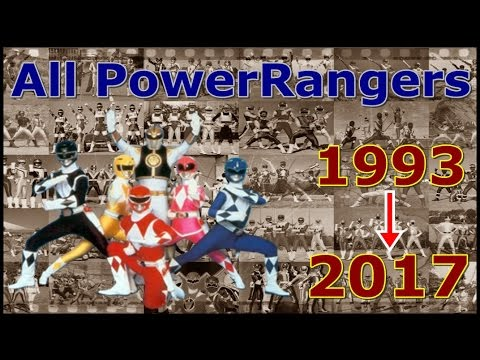All Years Power Rangers Complication[1993~2017]
