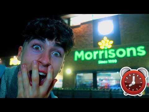 24 HOUR OVERNIGHT CHALLENGE IN MORRISONS!! *do not attempt*
