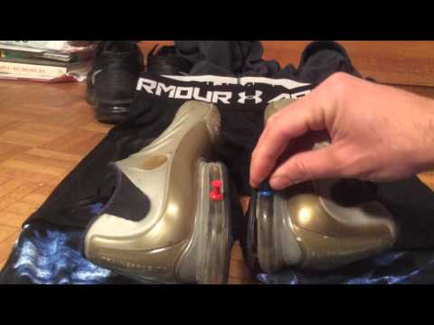 Popping old nike air trainerposite on under armour caraco with pins