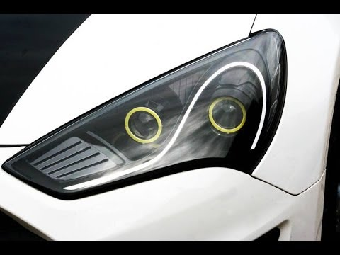 2013 2016 Genesis Coupe Dual Projector Headlights In Black