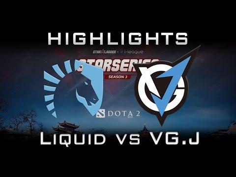 Liquid vs VG.J Starladder i-League 2017 Highlights Dota 2