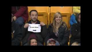 Repeat youtube video Mr. Hanks Pulls Out Sign on Gophers Kiss Cam starring Mr. Hanks (what a guy)