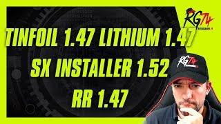 Tinfoil 1.47 - Lithium 1.47 - SX Installer 1.52 - RetroReloaded 1.47 - Sony Direct