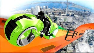 Mega Ramp - Tron Bike Extreme Stunts - Gameplay Android game