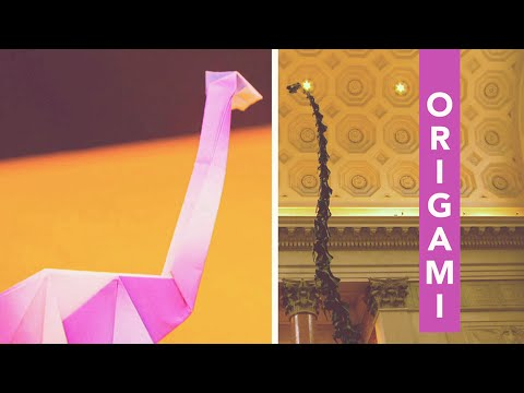 Origami at the Museum: Folding a Dinosaur