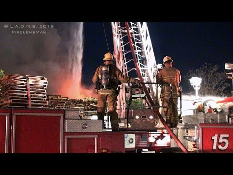 LAFD / Clothing Warehouse Fire / Major Emergency / Central-Alameda District