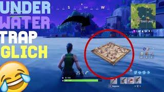 Under water trap glitch - FORTNITE MOMENTS