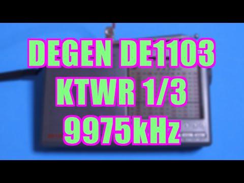 [1/3] フレンドシップラジオ(KTWR,9975kHz) DE1103(DEGEN)