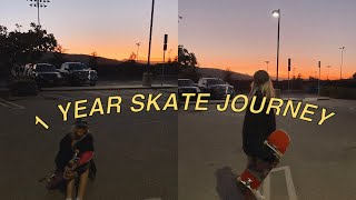1 Year Skateboarding Progression | Girl Skater