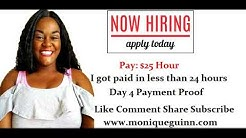 $25 Hour Work at Home Job Paid me in 24 hrs Day 4 Payproof