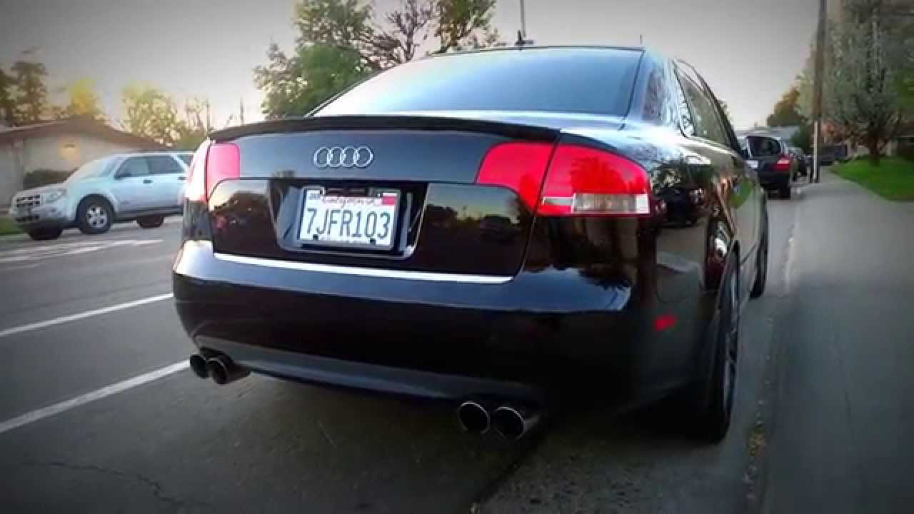 audi s4 b7 stasis exhaust muffler delete youtube. Black Bedroom Furniture Sets. Home Design Ideas