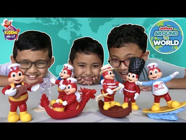 JOLLIBEE Around the World 2 - Jolly Kiddie Meal Toys 2018! Meet the Singing Jollibee!