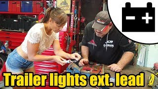 Trailer lighting extension cable Ft. Tool Girl Hana #1436